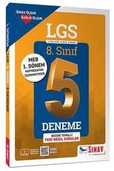 Sınav Dergisi Yayınları - Sınav Yayınları 8. Sınıf 1. Dönem LGS Çözümlü 5 Deneme