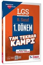 Sınav Dergisi Yayınları - Sınav Yayınları 8. Sınıf LGS 1. Dönem Çözümlü Tam Tekrar Kampı