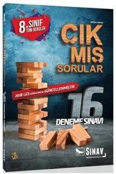 Sınav Dergisi Yayınları - Sınav Yayınları 8. Sınıf LGS Tüm Dersler Çıkmış Sorularla 16 Deneme Sınavı
