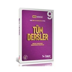 Sınav Dergisi Yayınları - Sınav Yayınları 9. Sınıf Tüm Dersler Çözümlü Soru Bankası
