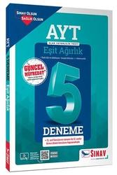 Sınav Dergisi Yayınları - Sınav Yayınları AYT Eşit Ağırlık Çözümlü 5 Deneme