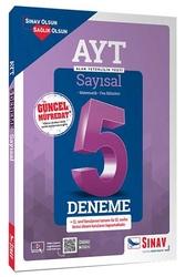 Sınav Dergisi Yayınları - Sınav Yayınları AYT Sayısal Çözümlü 5 Deneme