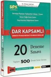 Yargı Yayınevi - SPK Dar Kapsamlı Sermaye Piyasası Mevzuatı ve Meslek Kuralları Cevaplı 20 Deneme Sınavı Yargı Yayınları