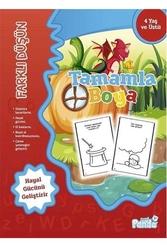 Mavi Panda Yayınları - Tamamla Boya 4 Farklı Düşün Mavi Panda Yayınları