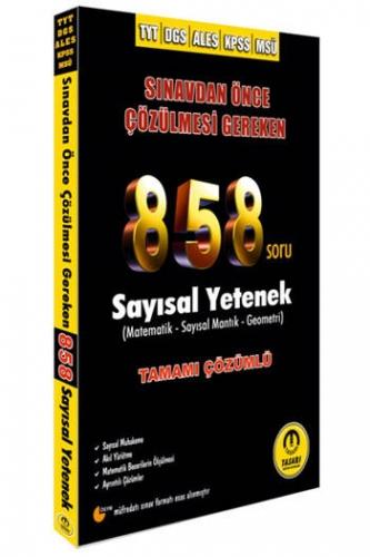 Tasarı Yayınları 2021 TYT DGS ALES KPSS MSÜ 858 Matematik Çözümlü Soru Bankası