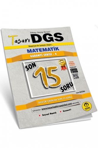 Tasarı Yayınları DGS Matematik Son 15 Soru Garanti Serisi Soru Kitapçığı