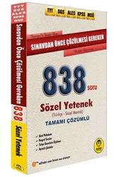 Tasarı Yayınları - Tasarı Yayınları TYT DGS ALES KPSS MSÜ Sınavdan Önce Çözülmesi Gereken Tamamı Çözümlü Sözel 838 Soru