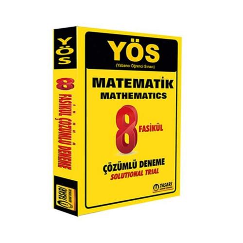 Tasarı Yayınları YÖS Matematik 8 Fasikül Çözümlü Deneme