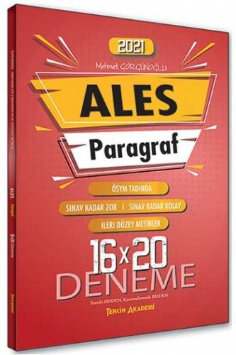 Tercih Akademi Yayınları 2021 ALES Paragraf 16×20 Deneme