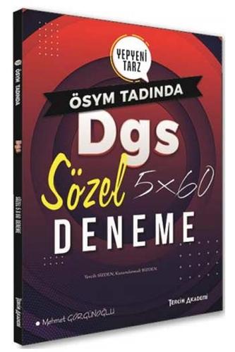Tercih Akademi Yayınları DGS Sözel 5×60 Deneme