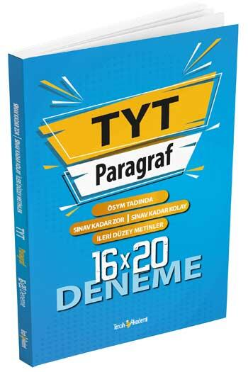 Tercih Akademi - Tercih Akademi Yayınları TYT Paragraf 16x20 Deneme