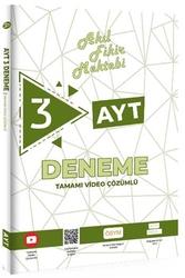 Tonguç Akademi - Tonguç Akademi AYT Akıl Fikir Mektebi Tamamı Video Çözümlü 3 Deneme