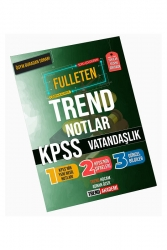 Trend Akademi Yayınları - Trend Akademi Yayınları KPSS Vatandaşlık Fulleten Trend Notlar