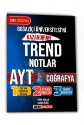 Trend Akademi Yayınları - Trend Akademi Yayınları YKS AYT Coğrafya Boğaziçi Üniversitesini Kazandıran Trend Notlar