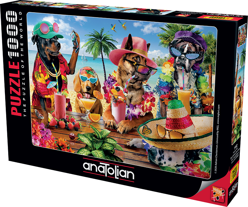 Anatolian - Tropikal Parti/ Dogs drinking smoothies on a tropical beach