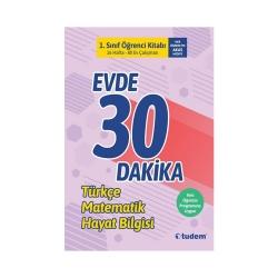 Tudem Yayınları - Tudem Yayınları 1. Sınıf Evde 30 Dakika Türkçe Matematik Hayat Bilgisi