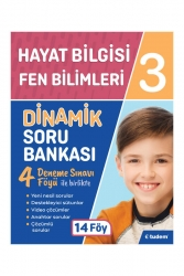 Tudem Yayınları - Tudem Yayınları 3. Sınıf Hayat Bilgisi Fen Bilimleri Dinamik Soru Bankası