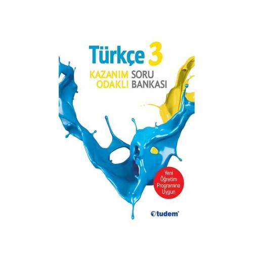 Tudem Yayınları 3.Sınıf Türkçe Kazanım Odaklı Soru Bankası