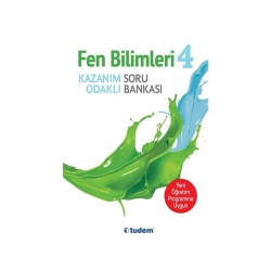 Tudem Yayınları - Tudem Yayınları 4.Sınıf Fen Bilimleri Kazanım Odaklı Soru Bankası