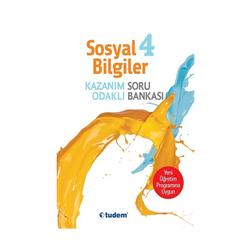 Tudem Yayınları - Tudem Yayınları 4.Sınıf Sosyal Bilgiler Kazanım Odaklı Soru Bankası