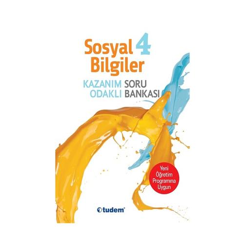 Tudem Yayınları 4.Sınıf Sosyal Bilgiler Kazanım Odaklı Soru Bankası