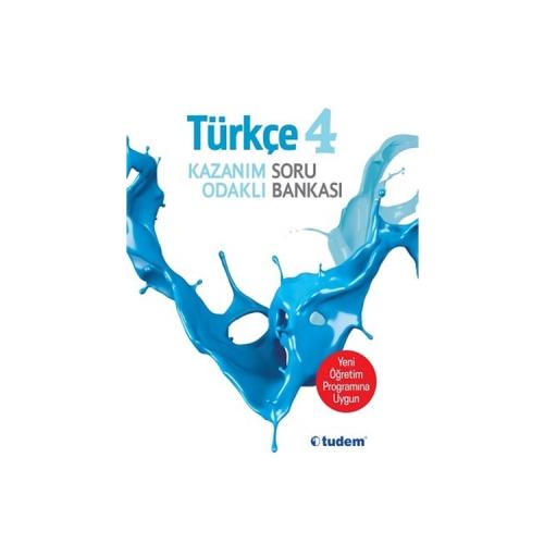 Tudem Yayınları 4.Sınıf Türkçe Kazanım Odaklı Soru Bankası