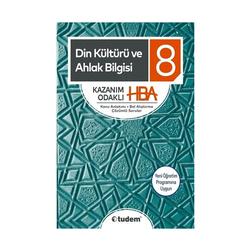 Tudem Yayınları - Tudem Yayınları 8. Sınıf Din Kültürü ve Ahlak Bilgisi Kazanım Odaklı HBA