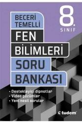 Tudem Yayınları - Tudem Yayınları 8. Sınıf Fen Bilimleri Beceri Temelli Soru Bankası