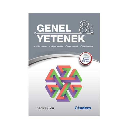 Tudem Yayınları 8. Sınıf Genel Yetenek Kitabı