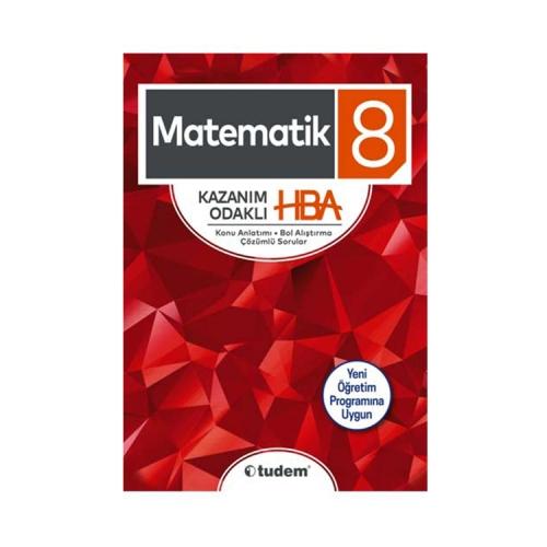 Tudem Yayınları 8. Sınıf Matematik Kazanım Odaklı HBA