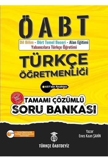 Türkçe ÖABTDEYİZ - Türkçe ÖABTDEYİZ 2021 ÖABT Türkçe Öğretmenliği Çözümlü Soru Bankası