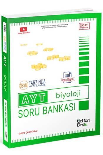 ÜçDörtBeş Yayınları - ÜçDörtBeş Yayınları AYT Biyoloji Konu Özetli Soru Bankası