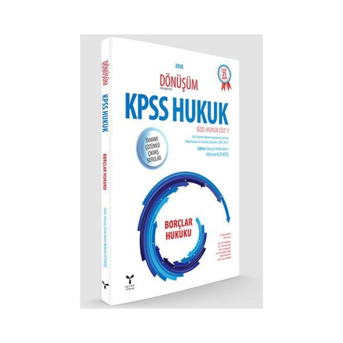 Umuttepe Yayınları Dönüşüm KPSS A Grubu Borçlar Hukuku Tamamı Çözümlü Çıkmış Sorular
