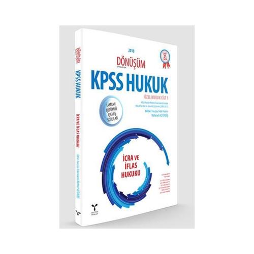 Umuttepe Yayınları Dönüşüm KPSS A Grubu İcra ve İflas Hukuku Tamamı Çözümlü Çıkmış Sorular