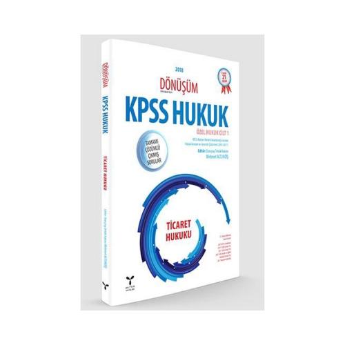 Umuttepe Yayınları Dönüşüm KPSS A Grubu Ticaret Hukuku Tamamı Çözümlü Çıkmış Sorular