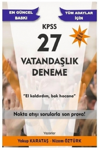 Yakup Karataş 2021 KPSS Vatandaşlık 27 Deneme