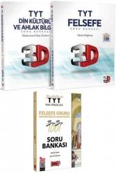 Yargı Yayınları - Yargı + 3D Yayınları 2021 TYT Felsefe Grubu Din Kültürü ve Ahlak Bilgisi Kazandıran Soru Seti