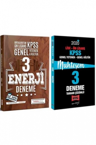 Yargı + İndeks Kitap 2020 KPSS Lise Ön Lisans GY-GK Muhteşem Çözümlü 3+3 Deneme Seti