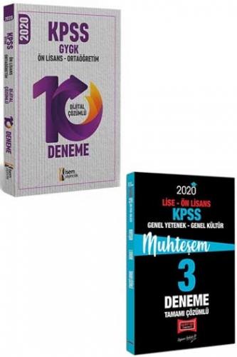 Yargı + İsem Yayınları 2020 KPSS Lise Ön Lisans GY-GK Muhteşem Çözümlü 10+3 Deneme Seti