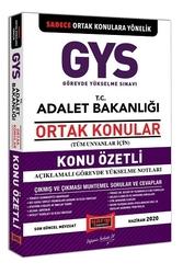 Yargı Yayınları - Yargı Yayınları 2020 GYS ADALET Bakanlığı Ortak Konular Konu Özetli Açıklamalı Görevde Yükselme Notları