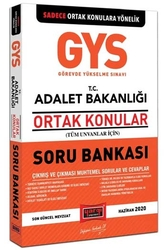 Yargı Yayınları - Yargı Yayınları 2020 GYS ADALET Bakanlığı Ortak Konular Soru Bankası