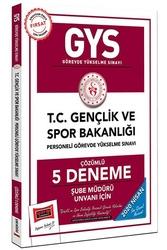 Yargı Yayınları - Yargı Yayınları 2020 GYS T.C. Gençlik ve Spor Bakanlığı Şube Müdürü Unvanı İçin Çözümlü 5 Deneme