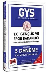Yargı Yayınları - Yargı Yayınları 2020 GYS T.C. Gençlik ve Spor Bakanlığı Yurt Müdürü Unvanı İçin Çözümlü 5 Deneme