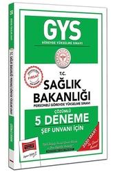 Yargı Yayınları - Yargı Yayınları 2020 GYS T.C. Sağlık Bakanlığı Şef Unvanı İçin Çözümlü 5 Deneme