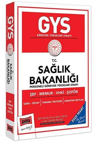 Yargı Yayınları 2020 GYS T.C.Sağlık Bakanlığı Şef-Memur-VHKİ-Şoför İçin Çalışma Kitabı