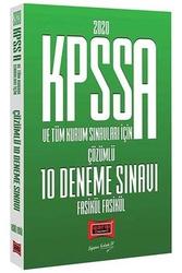 Yargı Yayınları - Yargı Yayınları 2020 KPSS A Grubu ve Tüm Kurum Sınavları İçin Çözümlü 10 Fasikül Deneme Sınavı