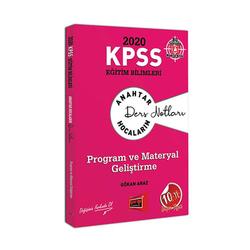 Yargı Yayınevi - Yargı Yayınları 2020 KPSS Eğitim Bilimleri Program ve Materyal Geliştirme Ders Notları