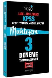 Yargı Yayınları - Yargı Yayınları 2020 KPSS Lise Ön Lisans Genel Yetenek Genel Kültür Muhteşem Tamamı Çözümlü 3 Deneme