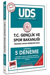 Yargı Yayınları - Yargı Yayınları 2020 UDS T.C. Gençlik ve Spor Bakanlığı Mühendis, Sosyal Çalışmacı, İstatistikçi Program Kadroları İçin Ortak Konulara Yönelik Çözümlü 5 Deneme