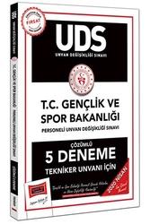 Yargı Yayınları - Yargı Yayınları 2020 UDS T.C. Gençlik ve Spor Bakanlığı Tekniker Unvanı İçin Çözümlü 5 Deneme